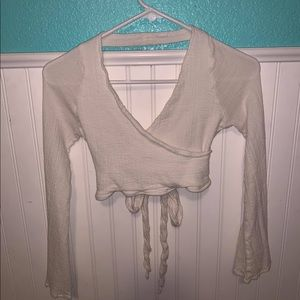 Brandy Melville long sleeve backless shirt